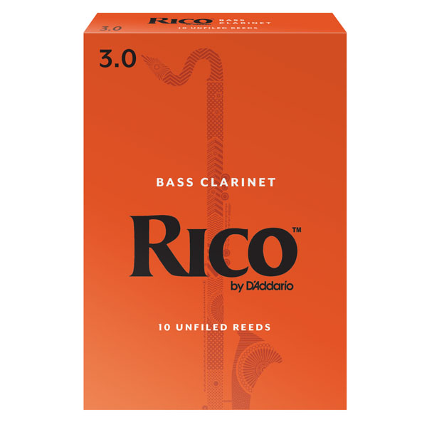 Rico Bass Clarinet Reeds by D'Addario (Box of 10)