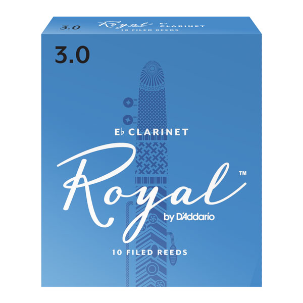 Royal E-flat Clarinet Reeds by D'Addario (Box of 10)