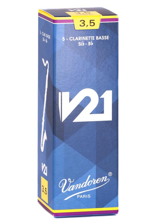 Vandoren V21 Bass Clarinet Reeds (Box of 5)
