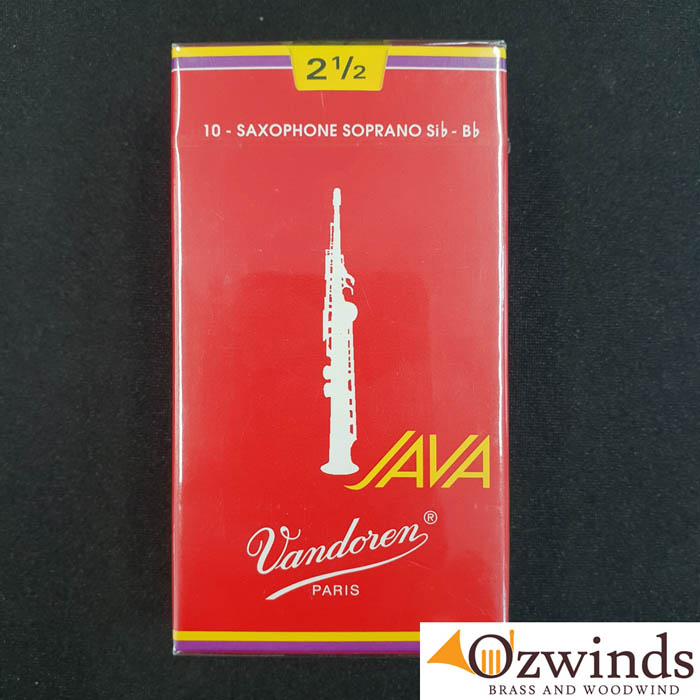 Vandoren RED Java Soprano Sax Reeds (Box of 10)