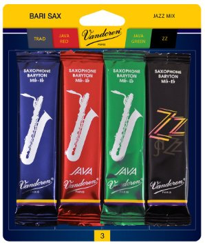Vandoren Baritone Saxophone Jazz Reed Card Mix