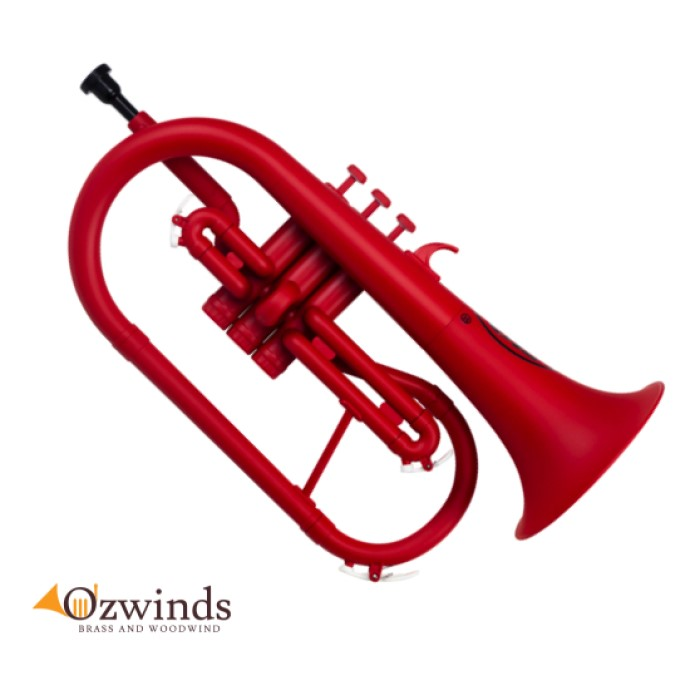 Zo Next Generation Plastic (ABS) Flugelhorn - Matte Racing Red