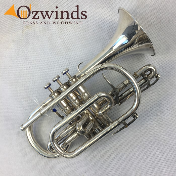 Besson Sovereign 923 Silver Plated Cornet (USED) #736541