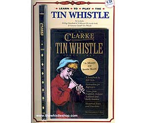 Clarke Tin Whistle in D with Book and CD