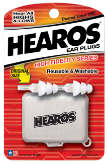Hearos High-Fidelity Ear Plugs (Standard Size)