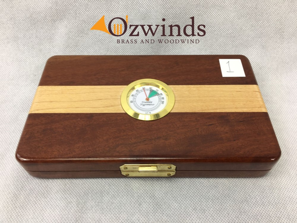 Holzinger Handmade Single or Double Reed Humidor Case