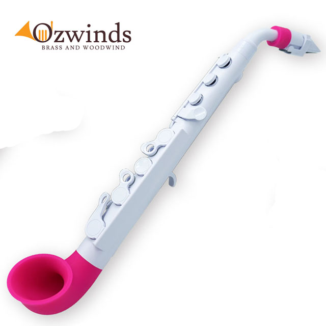 Nuvo jSax 2.0 Mini Saxophone, ABS, Pink and White