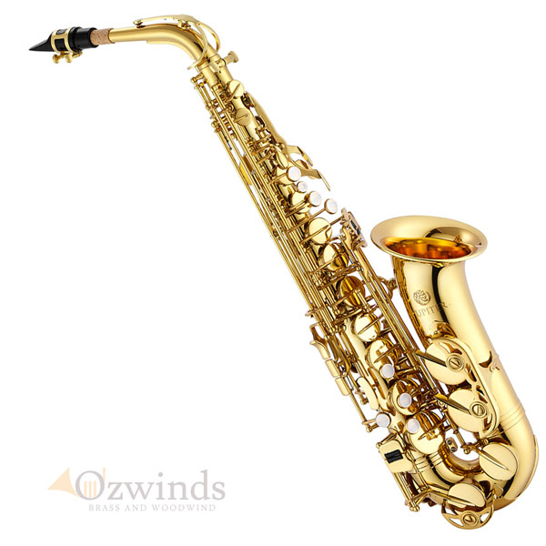 Jupiter JAS-500 Student Alto Saxophone with Fobes Debut Mouthpiece