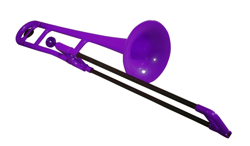pBone Trombone (Purple) with carry bag