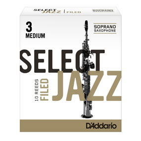 D'Addario Select Jazz Soprano Saxophone Filed Reeds (Box of 10)