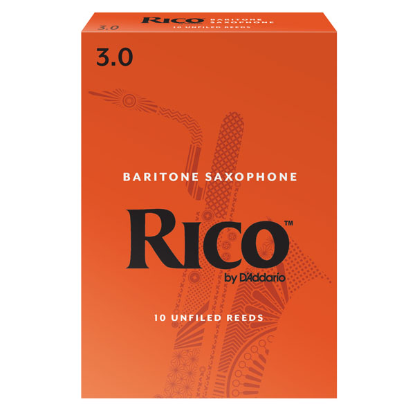 Rico Baritone Sax Reeds by D'Addario (Box of 10)
