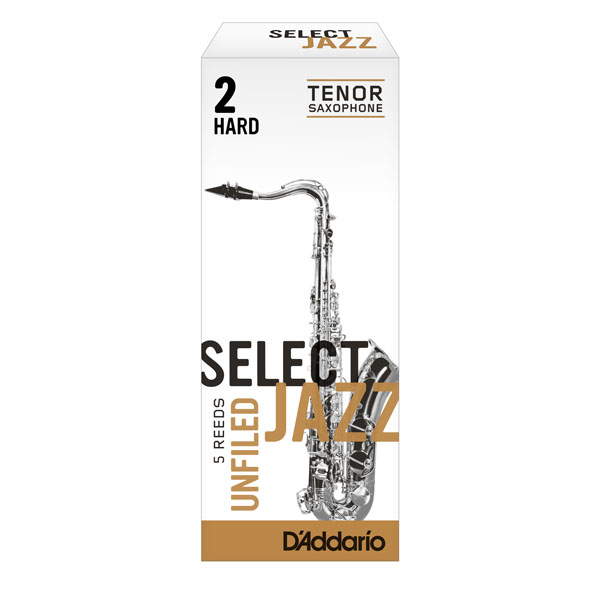 D'Addario Select Jazz Tenor Saxophone Unfiled Reeds (Box of 5)
