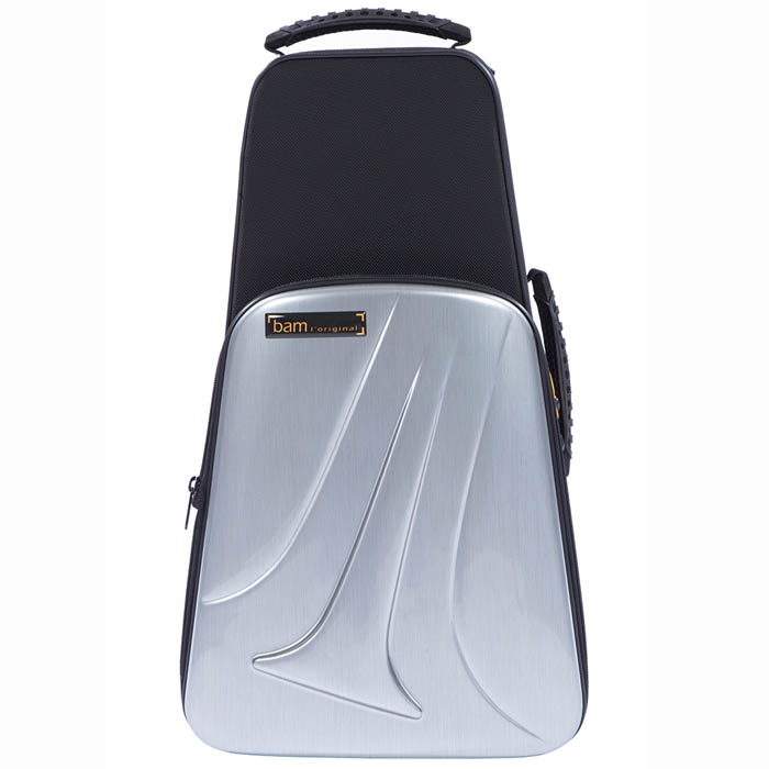 BAM New Trekking Single Trumpet Case (Brushed Aluminium Look)