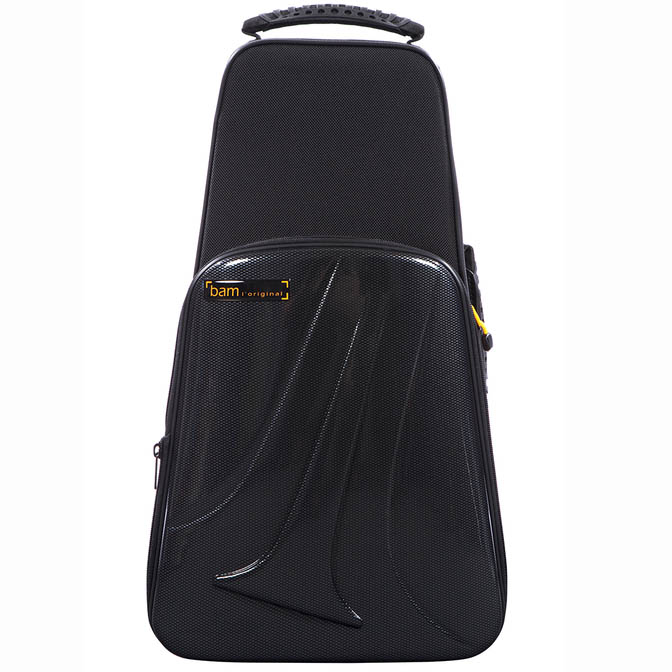 BAM New Trekking Single Trumpet Case (Black Carbon Look)